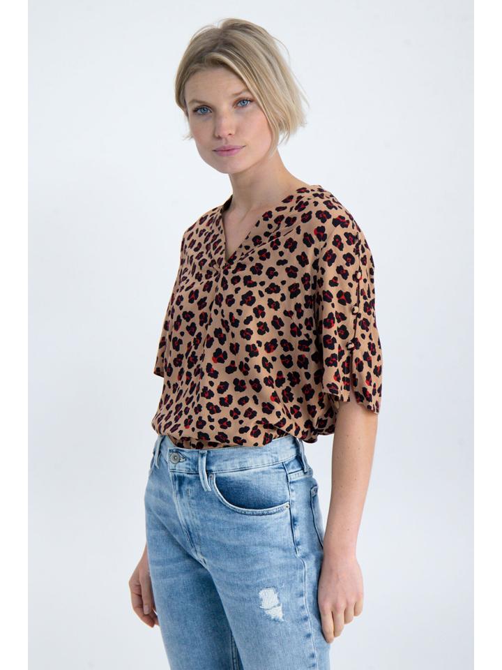 Garcia Shirt in Braun/ Schwarz/ Rot günstig kaufen