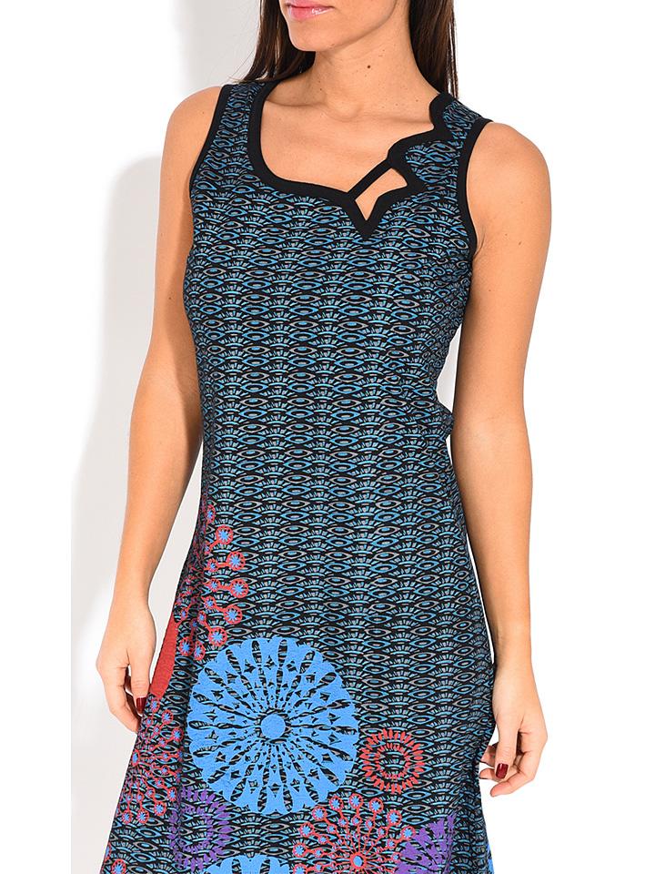Namaste Kleid in Blau/ Bunt günstig kaufen