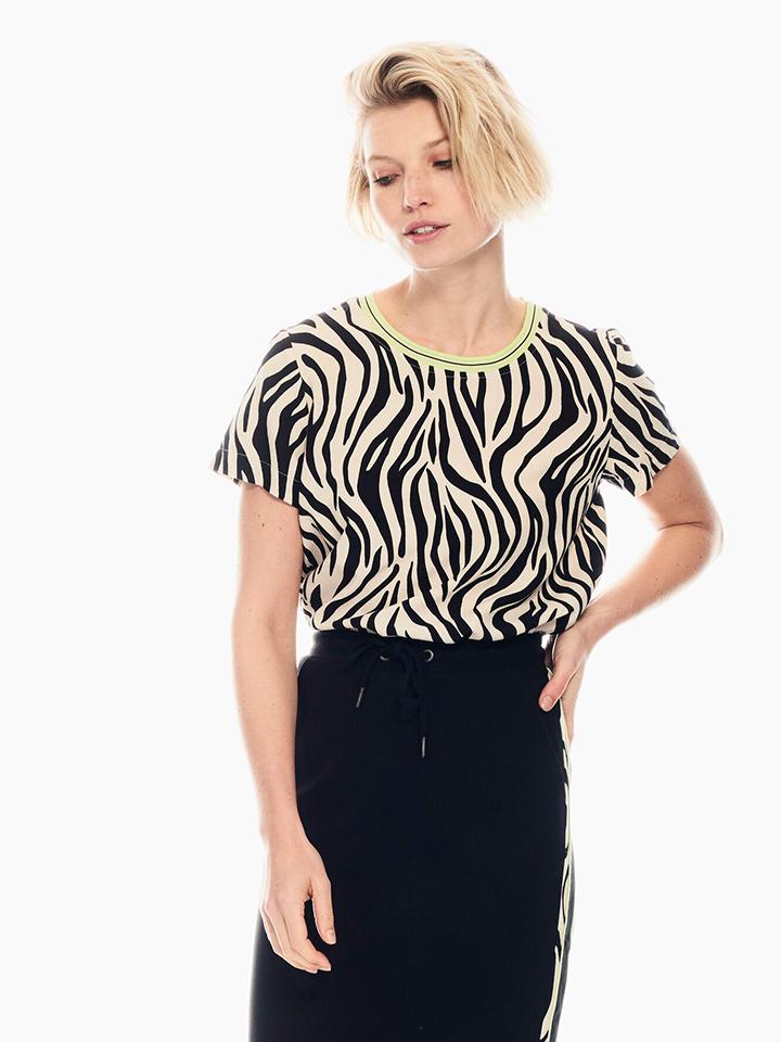 Garcia Shirt in Sand/ Schwarz günstig kaufen
