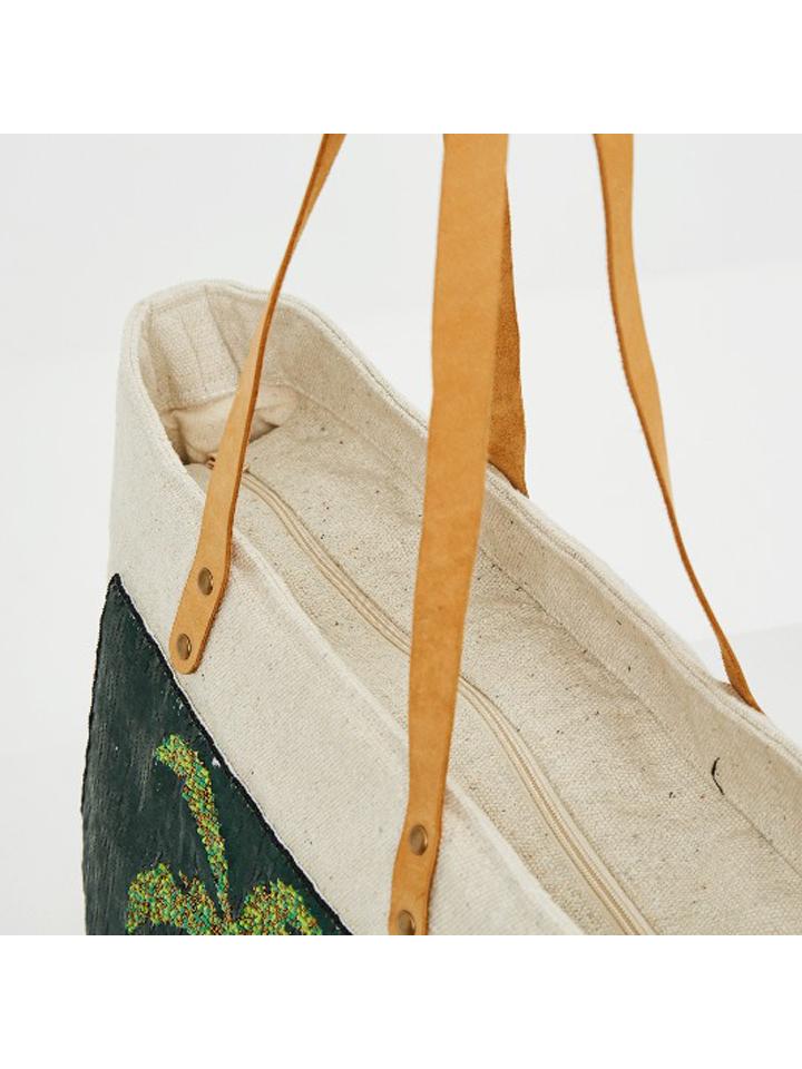 Surkana Strandtasche in Creme/ Bunt günstig kaufen