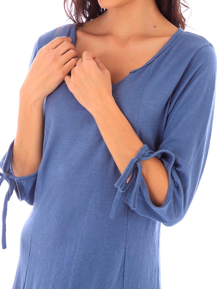 Fille de Coton Kleid in Blau günstig kaufen