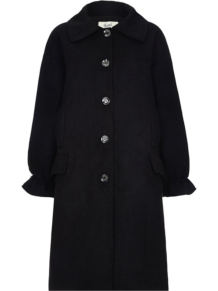 Yumi Mantel in Schwarz günstig kaufen