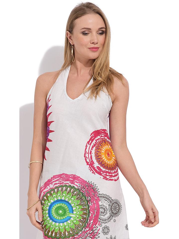 Namaste Kleid in Weiß/ Bunt günstig kaufen