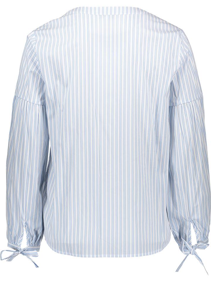 MAVI Bluse in Weiß/ Hellblau günstig kaufen