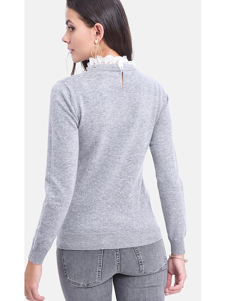 ASSUILI Pullover in Grau günstig kaufen