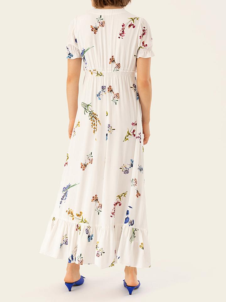 IVY & OAK Kleid in Weiß/ Bunt günstig kaufen