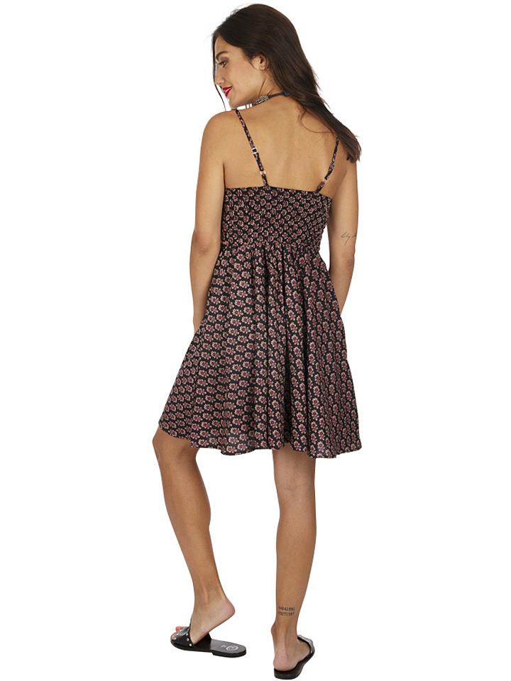 Aller Simplement Kleid in Schwarz/ Pink günstig kaufen