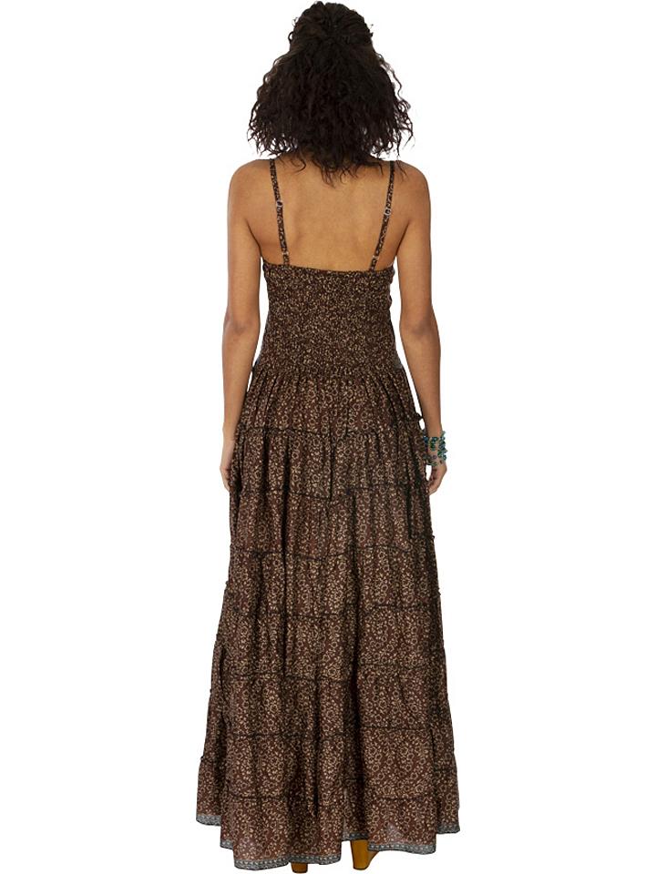 Ipanima Kleid in Dunkelbraun/ Beige günstig kaufen