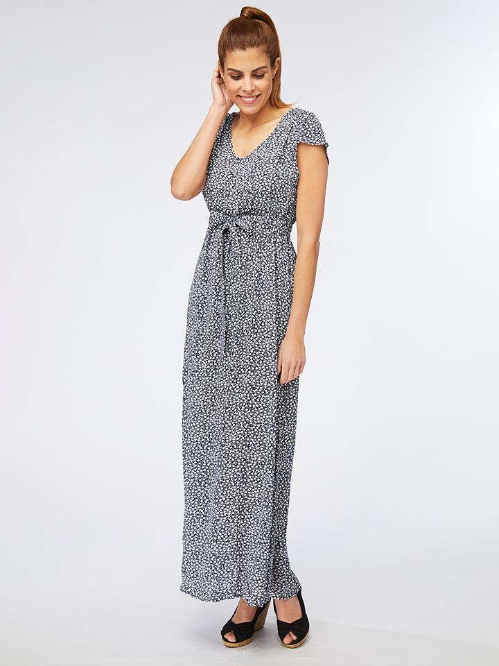 Ella Paris Kleid in Blau/ Weiß günstig kaufen