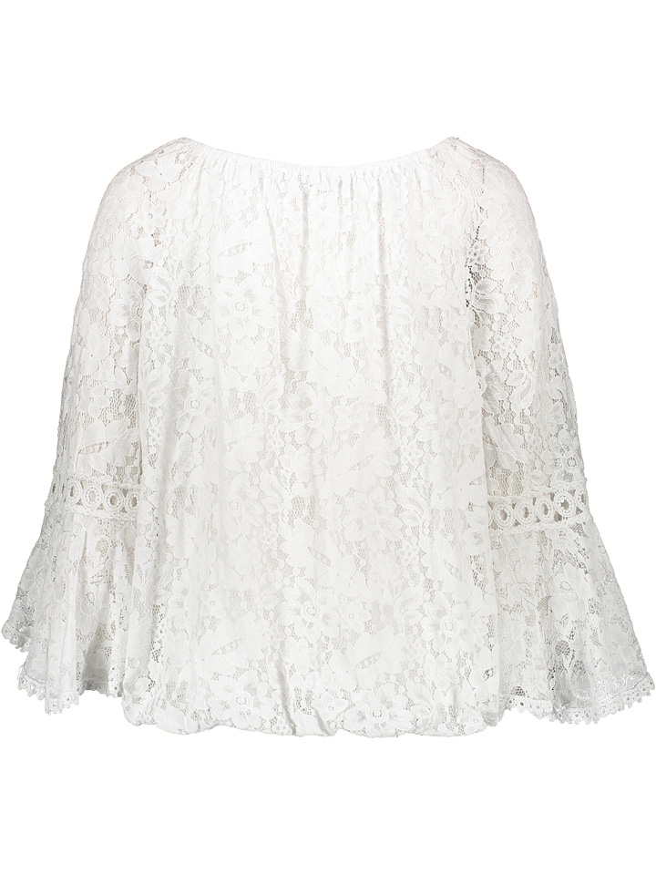 Garden Party Bluse in Weiß günstig kaufen
