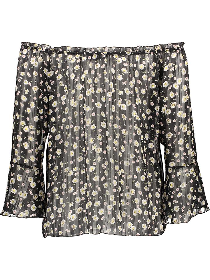 Garden Party Bluse in Schwarz günstig kaufen